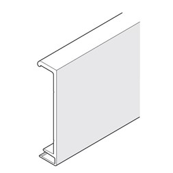 HAWA-Junior 80/B-Pocket ClipOn frontpanel aluminium 2000mm